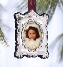 Holiday Ornaments - Personalized Carrs Sterling Silver Ornament Victorian