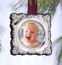 Holiday Ornaments - Personalized Carrs Sterling Silver Ornament Square