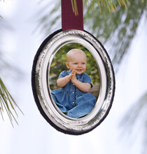 Frames & Albums for Her - Personalized Carrs Sterling Silver Ornament Oval