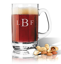 Acrylic Drinkware - Personalized Acrylic Beer Mug with Times Monogram