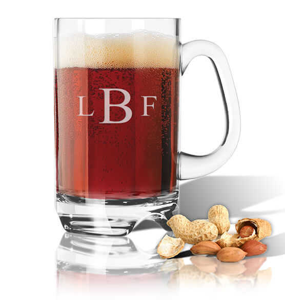 Personalized Acrylic Beer Mug with Times Monogram