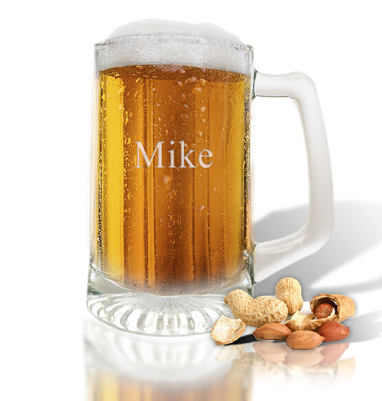 Personalized Sport Beer Mug, Set of 4