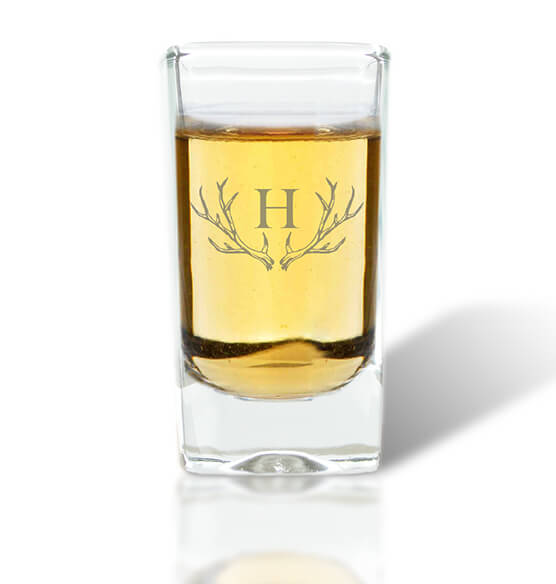 Personalized Shot Class with Antler Initial