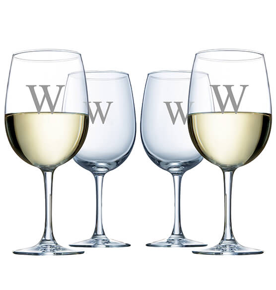 Personalized 4-Piece Wine Glass Set