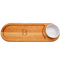 Gifts for the Hostess - Personalized Dipping Board with Times Initial