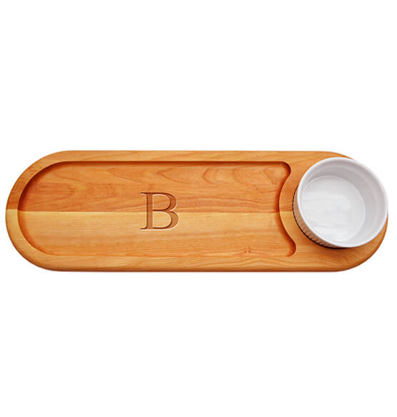 Personalized Dipping Board with Times Initial