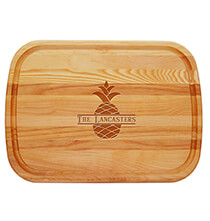 Gifts for the Hostess - Personalized Large Cutting Board with Pineapple Design