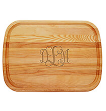 Gifts for the Hostess - Personalized Large Cutting Board with Times Monogram