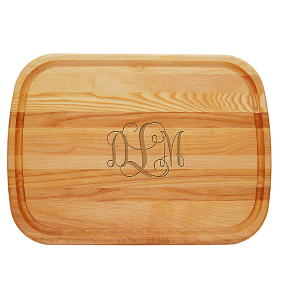 Personalized Large Cutting Board with Times Monogram