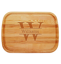 Personalized Large Cutting Board with Times Name