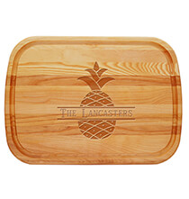 Personalized Large Cutting Board with Bold Pineapple Design