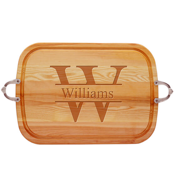 Personalized Large Handled Cutting Board with Times Name