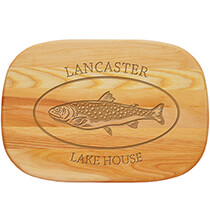 Cutting Boards - Personalized Medium Cutting Board with Trout Design