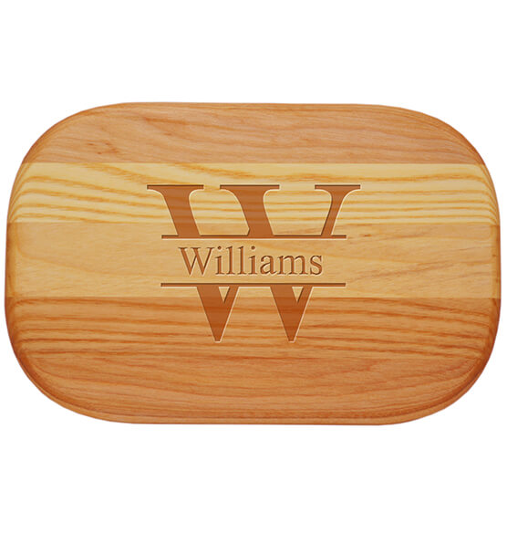Personalized Small Cutting Board with Times Name