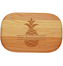 Cutting Boards - Personalized Small Cutting Board with Pineapple Design