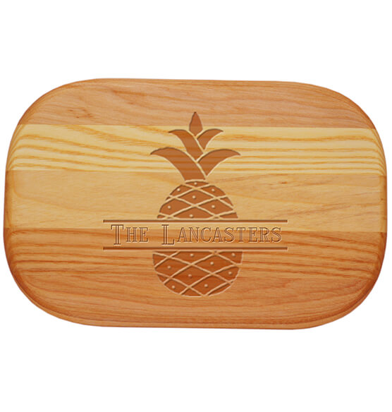 Personalized Small Cutting Board with Pineapple Design