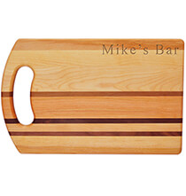 Gifts for Grandparents - Personalized Striped Handle Cutting Board with Name