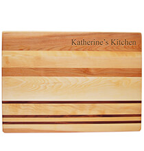 Gifts for Grandparents - Personalized Striped Cutting Board with Name