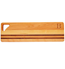 Cutting Boards - Personalized Striped Bread Board with Times Initial