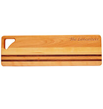 Cutting Boards - Personalized Striped Bread Board with Name