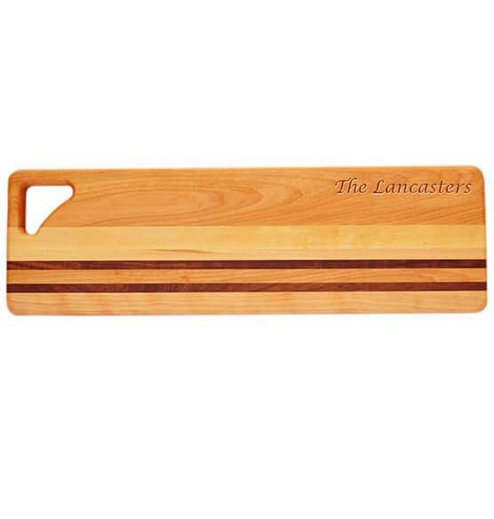Personalized Striped Bread Board with Name