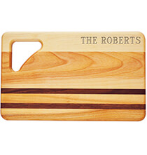Cutting Boards - Personalized Striped Rectangle Cutting Board with Name