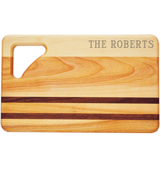 Personalized Striped Rectangle Cutting Board with Name