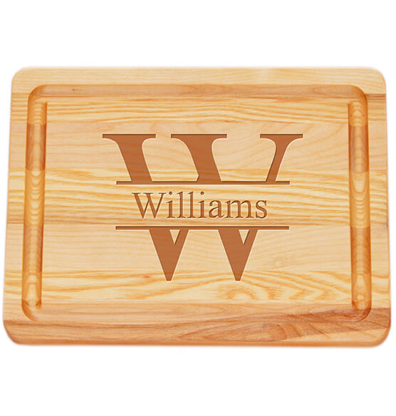 Personalized Small Block Cutting Board with Times Name