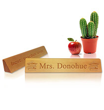 Desktop & Office - Personalized Teacher's Desk Name Plaque - Books Design