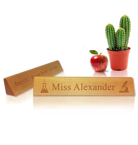 Personalized Teacher's Desk Name Plaque - Science Design