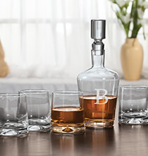 Gifts for the Hostess - Personalized 5 Piece Decanter Set