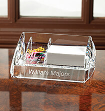 Personalized Clearylic Desk Caddy