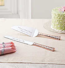 Wedding Essentials - Personalized Eternal Love Rose Gold Server Set
