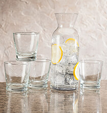 Gifts for the Hostess - Personalized 5 Piece Carafe Set