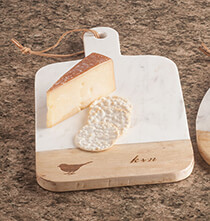 Gifts for the Foodie - Personalized Rectangular Marble Board by Trisha Yearwood