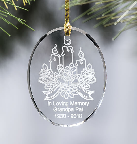 Personalized Candle Ornament