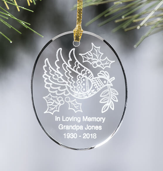 Personalized Dove Ornament - View 1