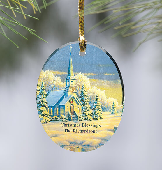 Personalized Reflections of Winter's Eve Ornament - View 1