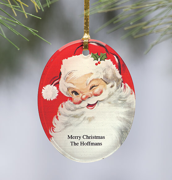 Personalized Jolly St. Nick Ornament