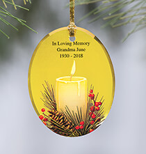 Occasion & Themed Ornaments - Personalized Candlelight Ornament