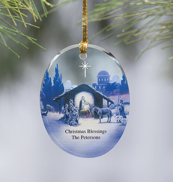 Personalized Reflections of Christmas Ornament