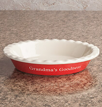 Personalized Pie Dish