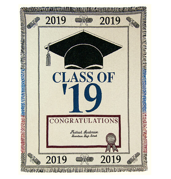 Personalized 2019 Graduation Afghan