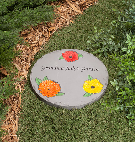 Personalized 12 Quot Daisy Garden Stepping Stone Exposures