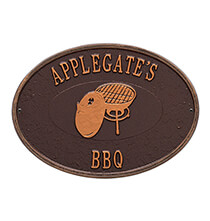 Entertaining for Him - Personalized Charcoal Grill Deck Plaque