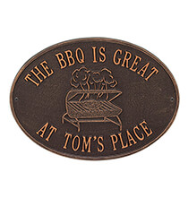 Outdoor Plaques & Decor - Personalized Grill Deck Plaque