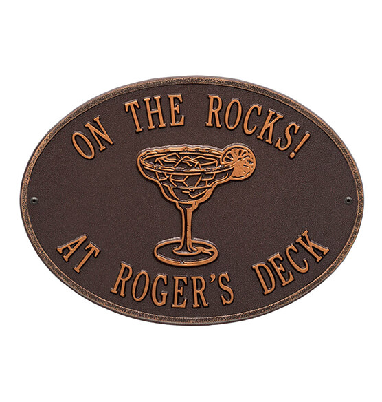 Personalized Margarita Deck Plaque - View 1