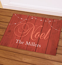 Holiday Décor - Personalized Barnwood Noel Doormat