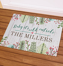 Holiday Décor - Personalized Baby It's Cold Outside Doormat