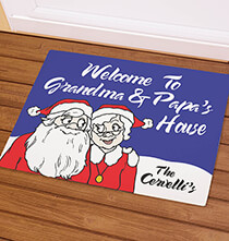 Holiday Décor - Personalized Grandma & Papa's Santa Claus Doormat